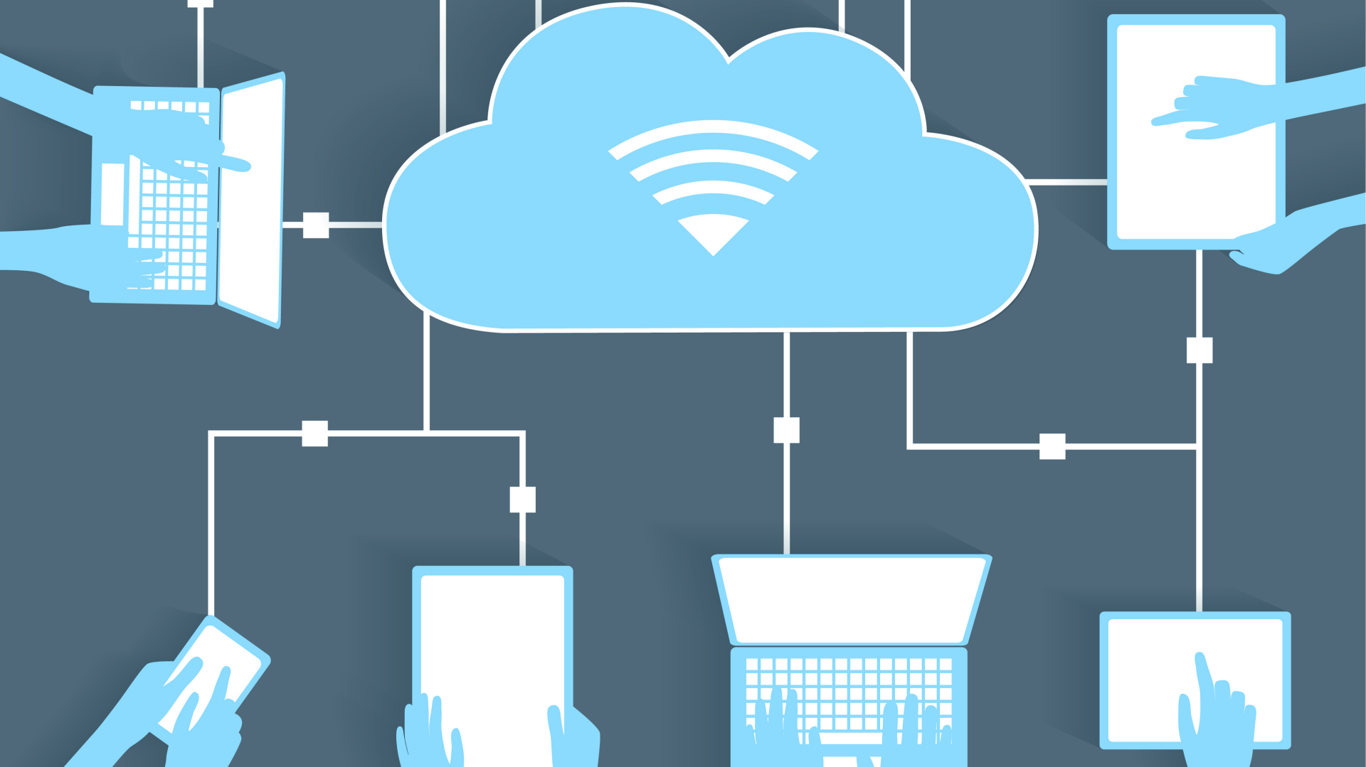 business connecting to cloud